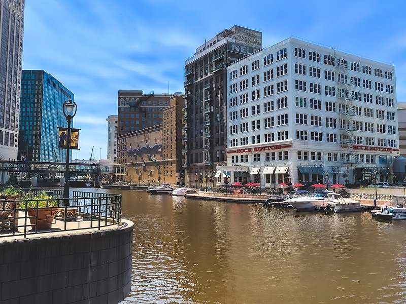 The Milwaukee River in Milwaukee WI