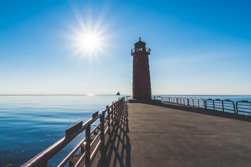 Milwaukee Pierhead Light in Milwaukee Wisconsin