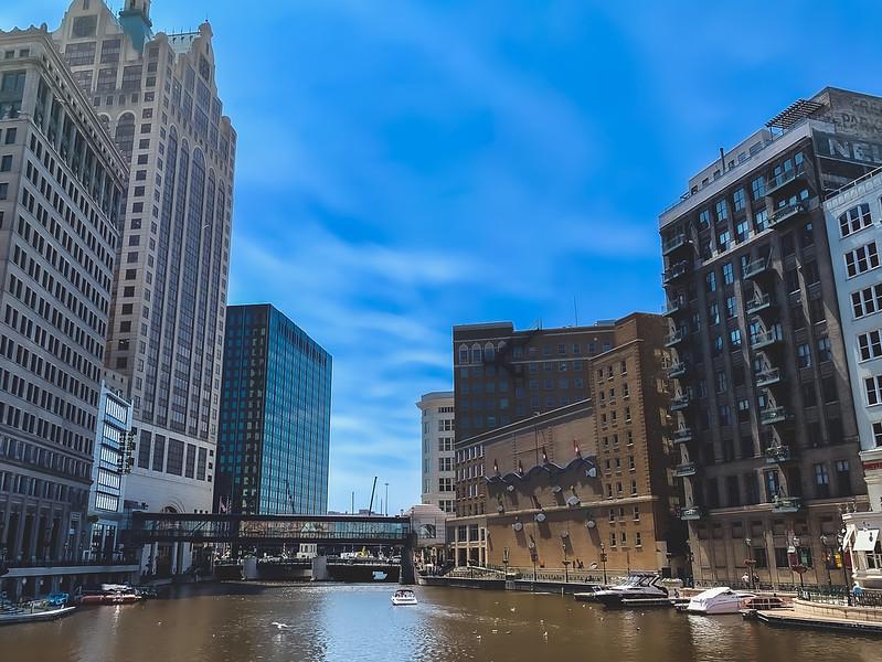 The Milwaukee River in Milwaukee Wisconsin