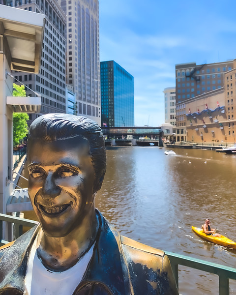 The Bronze Fonz in Milwaukee Wisconsin