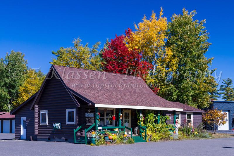 A small roadside shop near Minocqua, Wisconsin, USA.