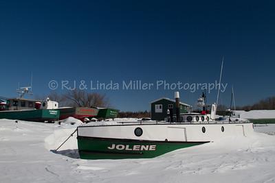 Jolene Fishing Tug, Frozen Lake Superior, Bayfield County, Wisconsin