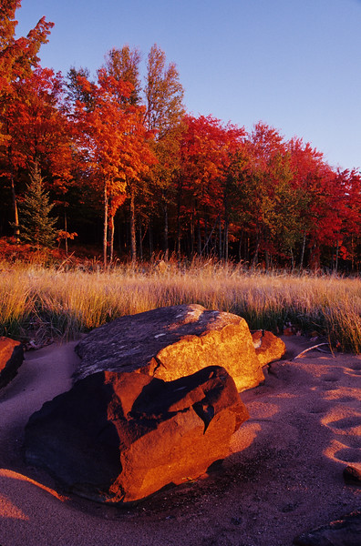 WI046573-00 - WI Iron - Rocks On Shore Fall Color