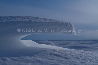 Snow Drifts on Frozen Lake Superior, Bayfield County, Wisconsin