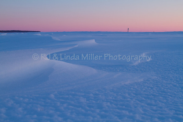 Lake Superior Snow Drifts, Bayfield County, Wisconsin