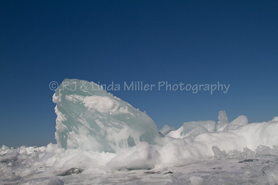 Frozen Ice Formations, Frozen Lake Superior, Bayfield County, Wisconsin