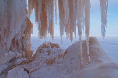 Ice Formations and Ice Caves, Apostle Islands National Lakeshore, Bayfield County, Wisconsin, USA