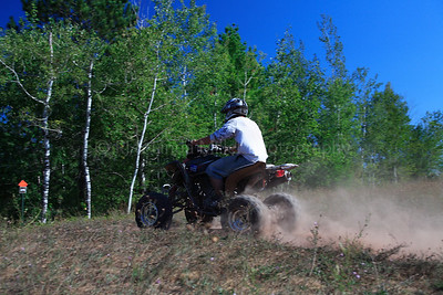 Marinette County, WI - 4 Wheeler on Trail