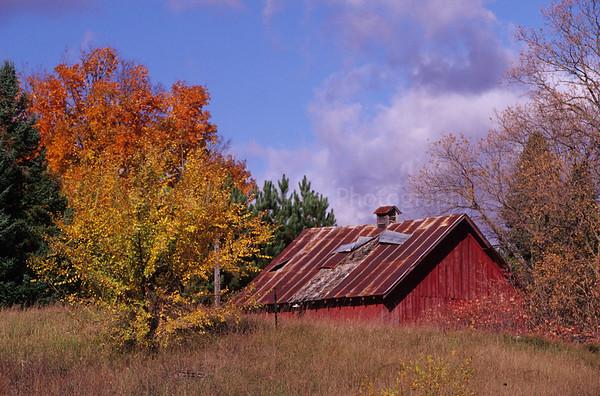 FA000193 Marinette - Red Barn - Fall Color
