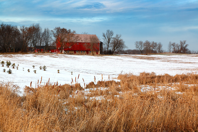 Red Winter II - Wisconsin Farm (Washington County - Wisconsin)