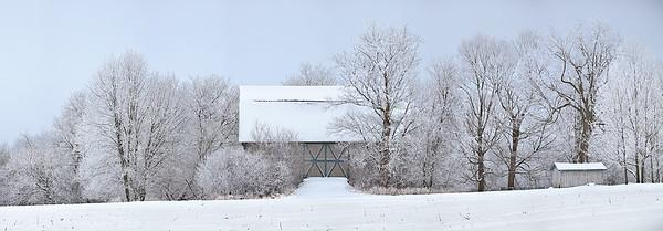 Double X Panoramic - Wisconsin Barn (Erin, Wisconsin)