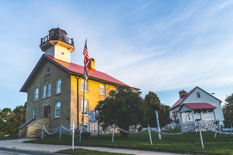 1860 Port Washington Light Station Museum in Port Washington Wisconsin