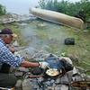 Master Camp Chef Jim tending to some pan-fried walleye