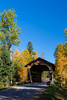 The Smith Rapids Covered Bridge in the Chequamegon - Nicolet National Forest near Minocqua, Wisconsin, USA.