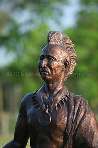 Native American Statue in Prairie du Chien Riverside Park, Crawford County, Wisconsin