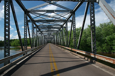 Bridge Over Wisconsin River, Iowa County, Wisconsin, Summer