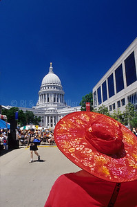 Woman in Red Hat - Art Fair - Madison