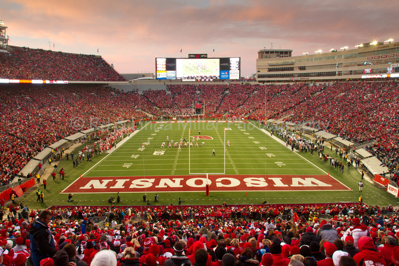 Football Game, University Wisconsin Madison, Madison, Dane County, Wisconsin