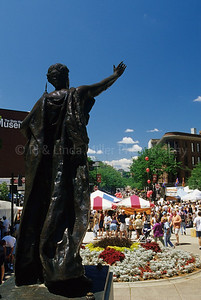 State Street Statue and Farmers Market