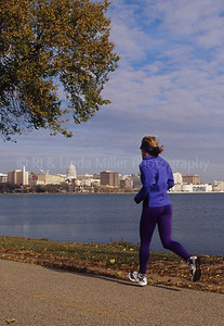 Runner in Front of Capital Building Madison
