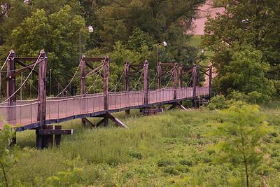 Bridge Over Riverbottom, Richland Center, Richland County, Wisconsin, Summer