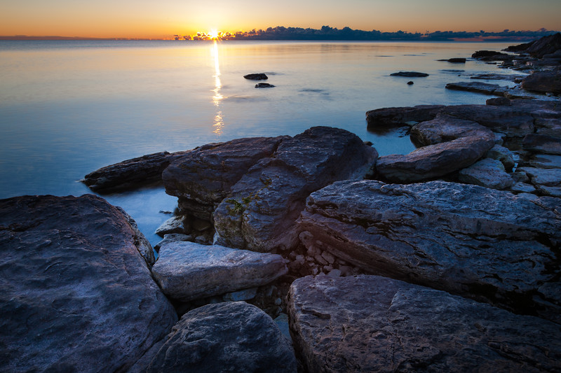 Sunrise at Newport State Park. Door County, WI<br /> <br /> WI-100905-0017