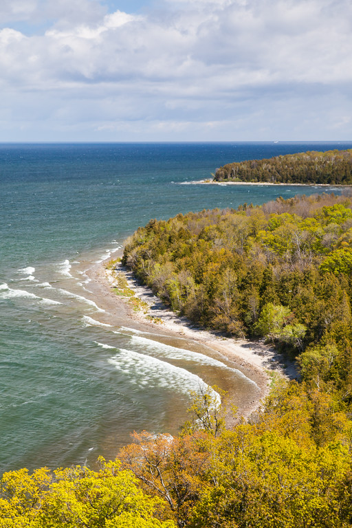 Waves caress the shores of Peninsula State Park. Peninsula State Park, WI<br /> <br /> WI-100514-0039