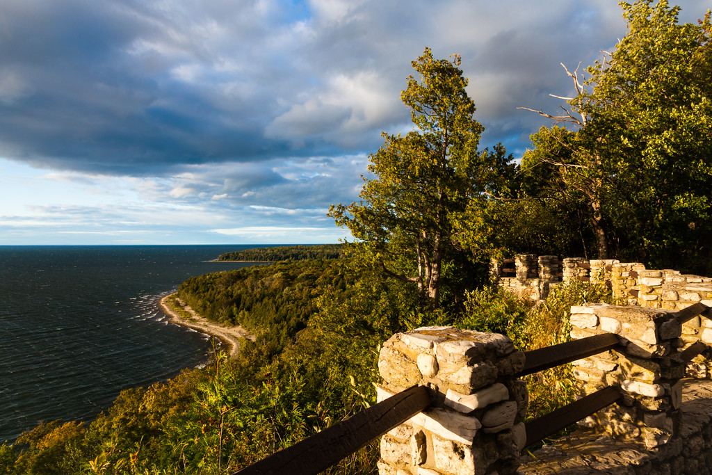 View of Peninsula State Park from Sven's Bluff. Peninsula State Park, WI<br /> <br /> WI-100904-0090