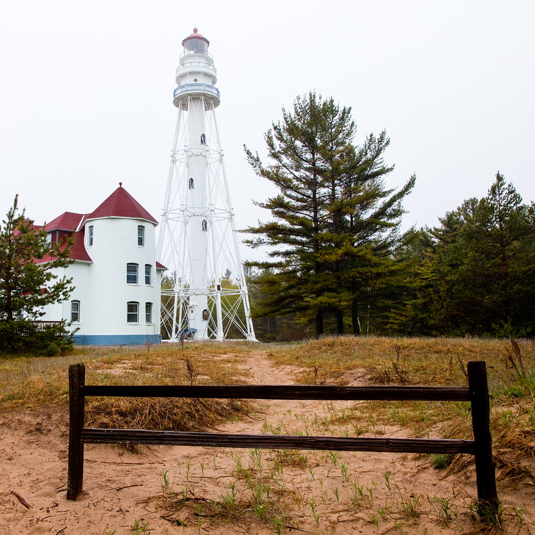 Spring brings heavy fog and rain to Point Beach State Park. Two Rivers, WI<br /> <br /> WI-100513-0001