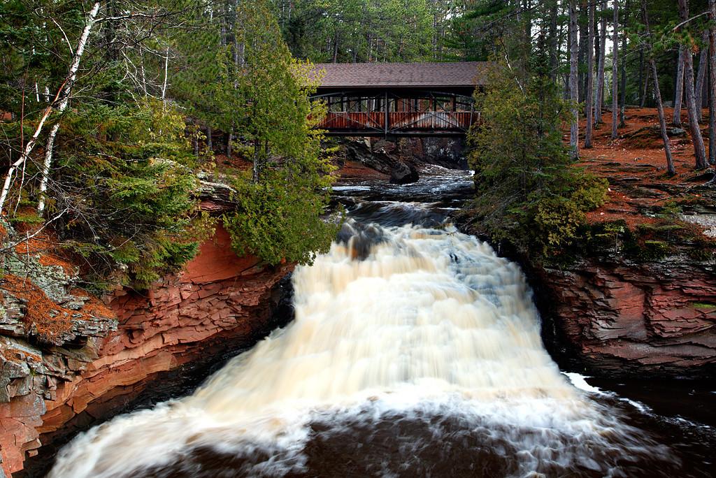 Under The Bridge We Go - Lower Amnicon Falls (Amnicon Falls State Park - Wisconsin)