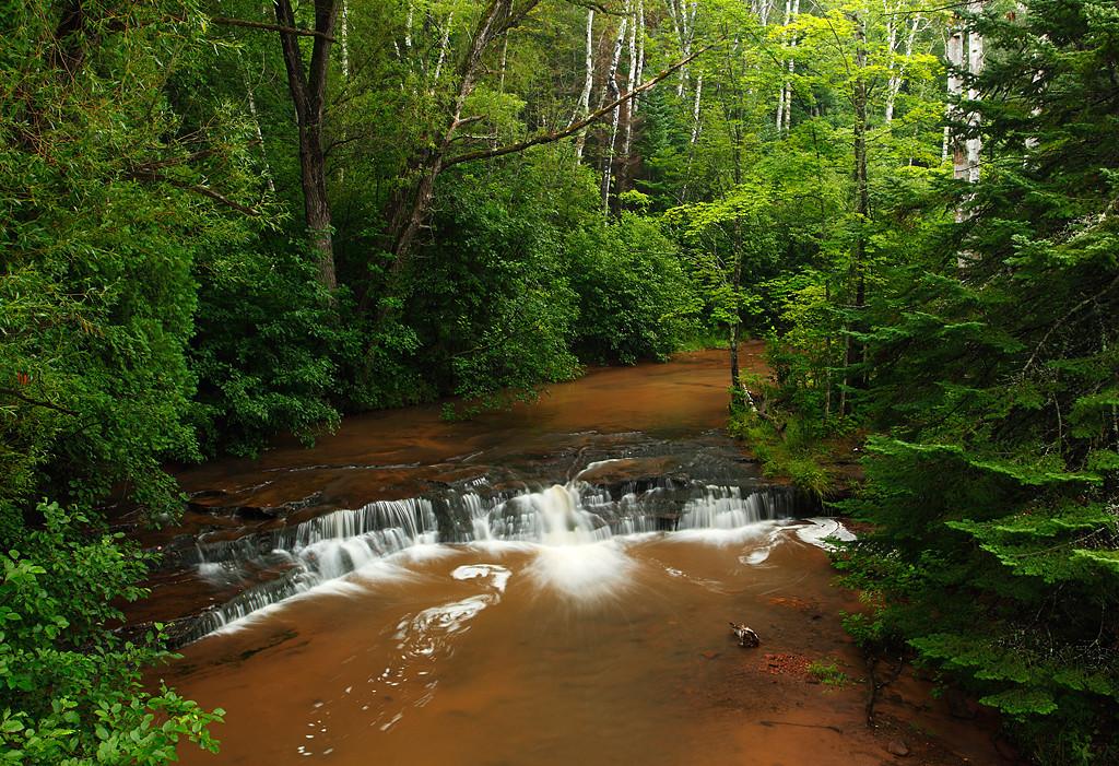 Around The Bend - Upper Siskiwit Falls (Siskiwit River - Wisconsin)