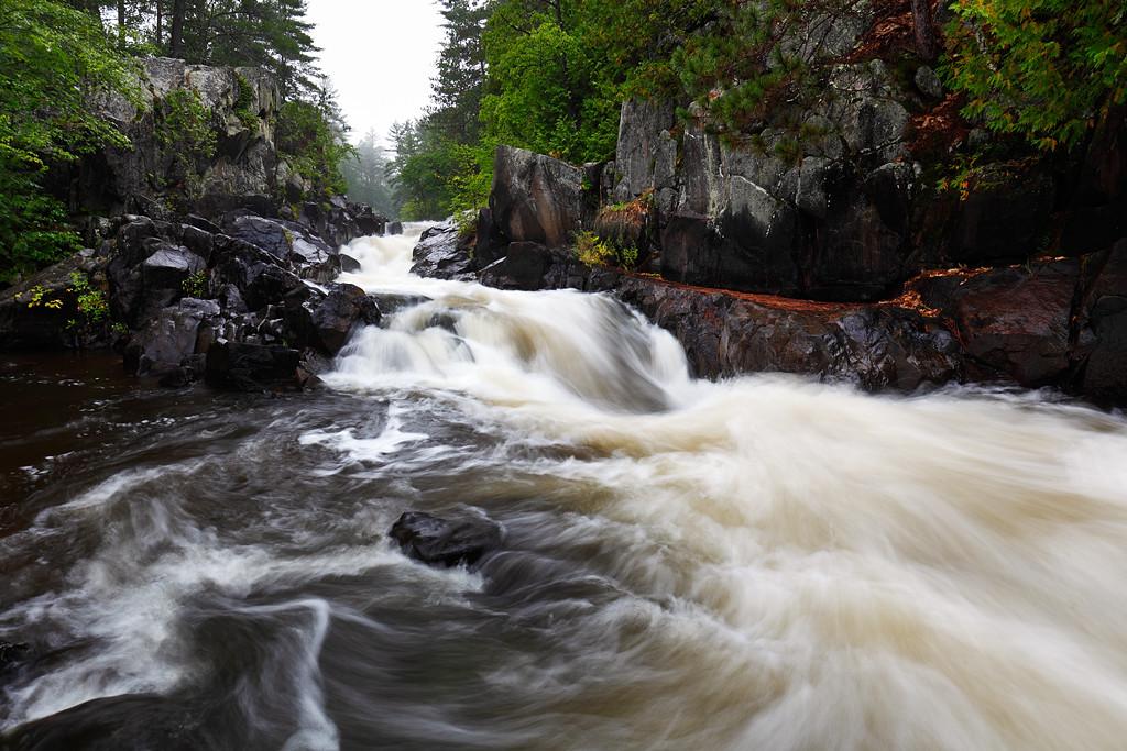 Rainy Run Down - Dave's Falls (Amberg, WI)