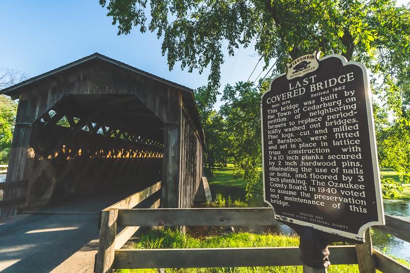Cedarburg Covered Bridge (Red Bridge) in Ozaukee County Wisconsin