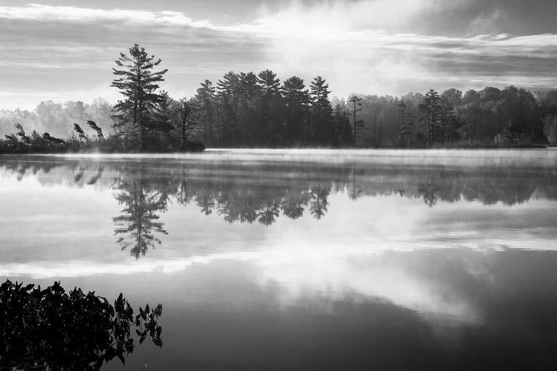 WI 149     Sunrise reflections on Little Bearskin Lake in northern Wisconsin.