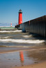 A summer day by the Kenosh Pierhead Light. Kenosha, WI<br /> <br /> WI-080811-0181