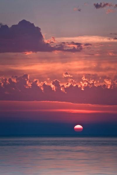 WI 028                                Sunset at Door Bluff County Park in Door County, Wisconsin.