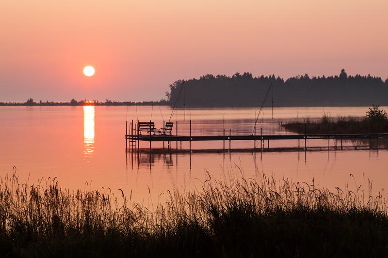 Sunrise over Moonlight Bay. Baileys Harbor, WI<br /> <br /> WI-090907-0001