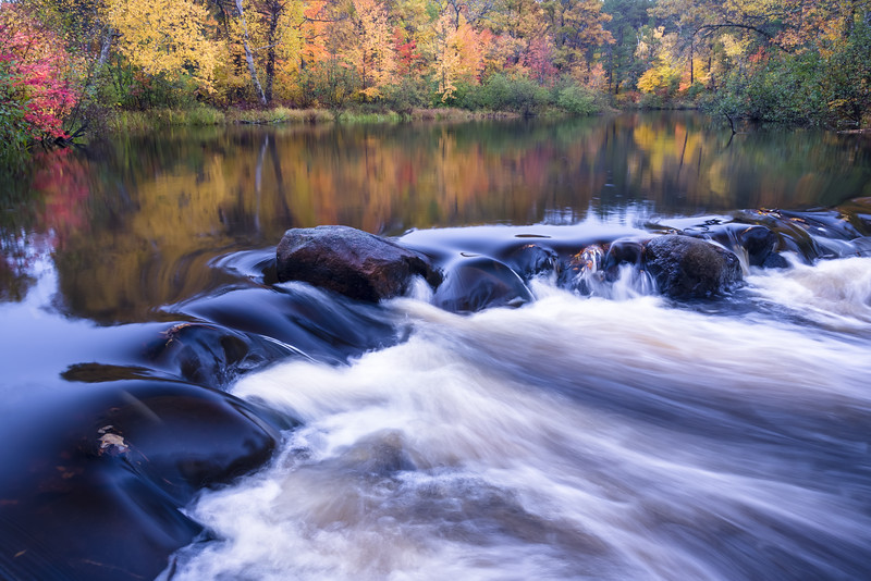 WI 157<br /> <br /> The Manitowish River flows through a landscape of autumn colors in the Northwoods of northern Wisconsin, USA.
