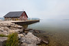 Light fog covers the entrance to Ephraim's Bay. Ephraim, WI<br /> <br /> WI-090907-0081