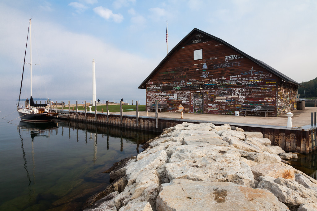 Anderson's Dock in Fog