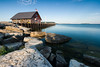 Early morning light shines on Anderson Dock. Ephraim, WI<br /> <br /> WI-080901-0097