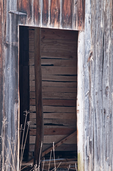 WI 105                           A doorway into an old barn on an abandon cherry orchard in Door County, Wisconsin