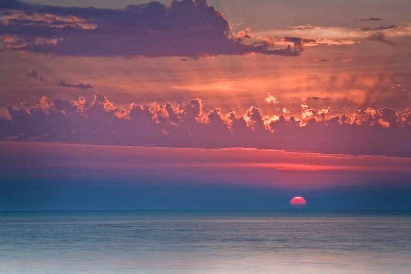 WI 029                             Sunset at Door Bluff County Park in Door County, Wisconsin.