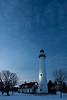Wind Point Lighthouse at Dusk