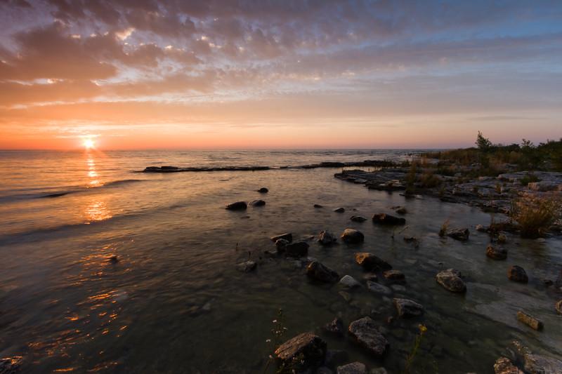 Cana Island sunrise. Cana Island, WI<br /> <br /> WI-080901-0022