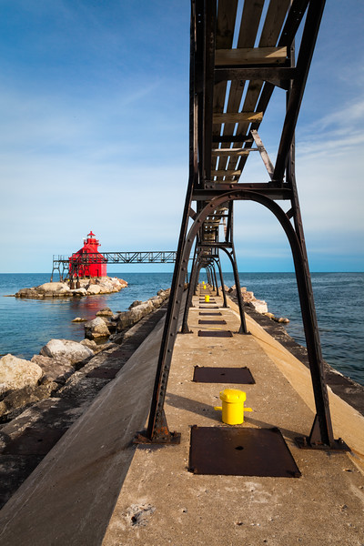 Sturgeon Bay Pierhead Light. Sturgeon Bay, WI<br /> <br /> WI-100515-0231
