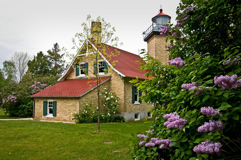 WI 013                           Eagle Bluff Lighthouse at Peninsula State Park in Door County, Wisconsin.