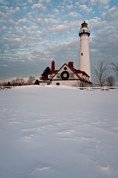 WI 115                            Sunset at Wind Point Lighthouse near Racine, Wisconsin.