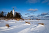 WI 078                            Late afternoon light on the Cana Island lighthouse in winter, Door County, WI.