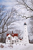 WI 113                         Winter at North Point Lighthouse near Milwaukee, Wisconsin.